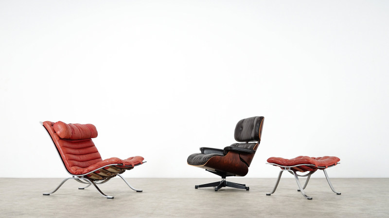 Arne Norell Ari Lounge Chair and Charles Eames