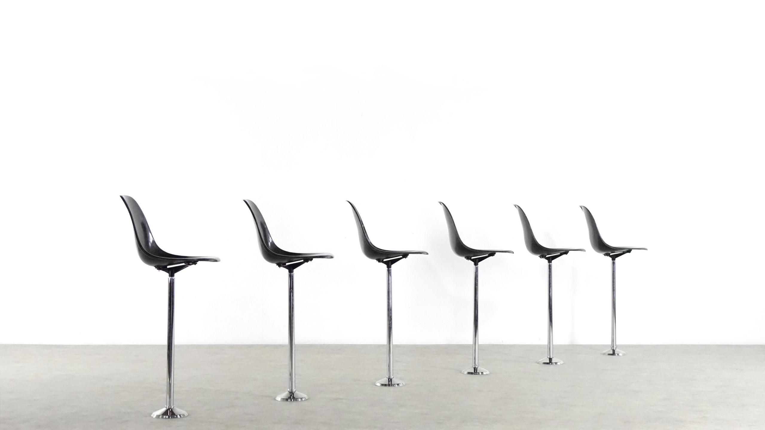 charles eames rare set of barstool chair herman miller. Black Bedroom Furniture Sets. Home Design Ideas