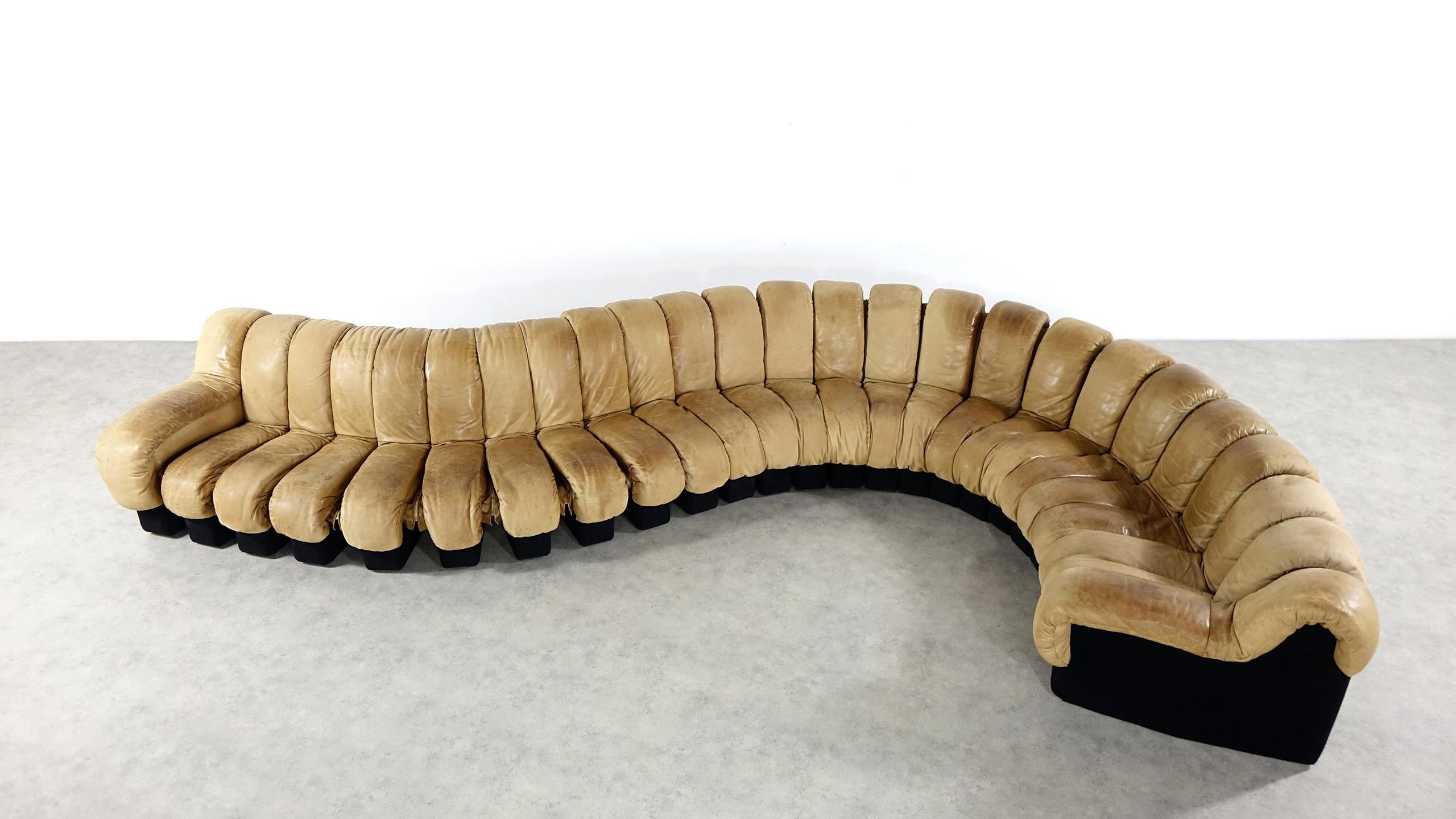 de sede ds 600 sofa 25 elements in leather zorrobot. Black Bedroom Furniture Sets. Home Design Ideas