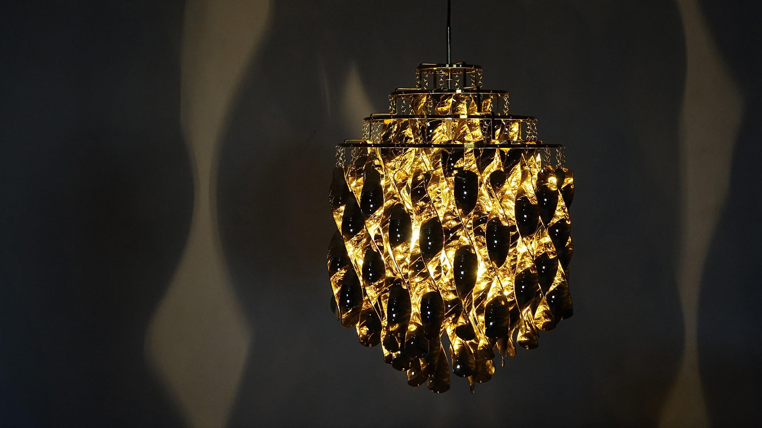 verner panton 1969 spiral gold verpan fun lamp. Black Bedroom Furniture Sets. Home Design Ideas