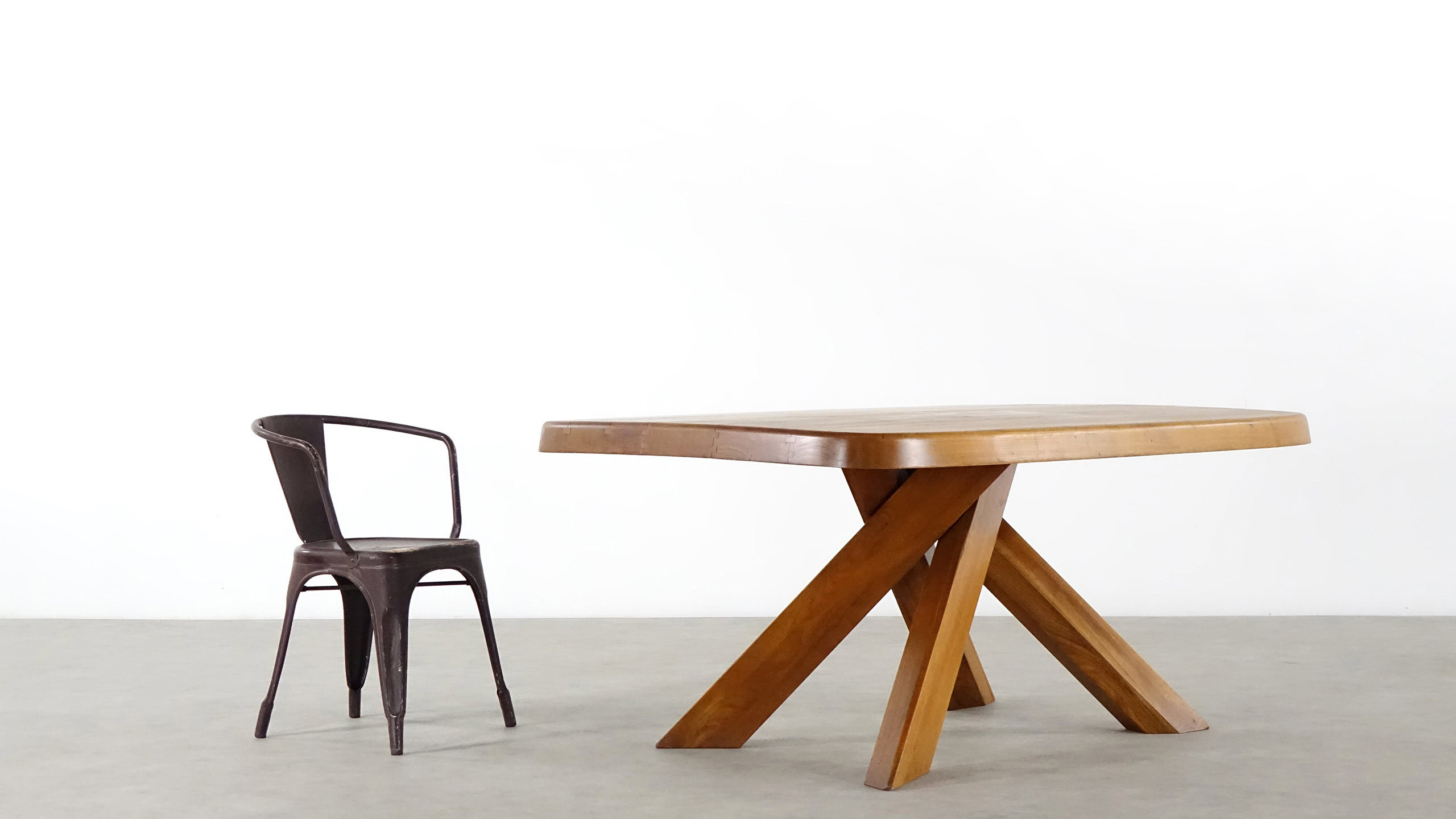 pierre chapo table by sfax france 1960. Black Bedroom Furniture Sets. Home Design Ideas