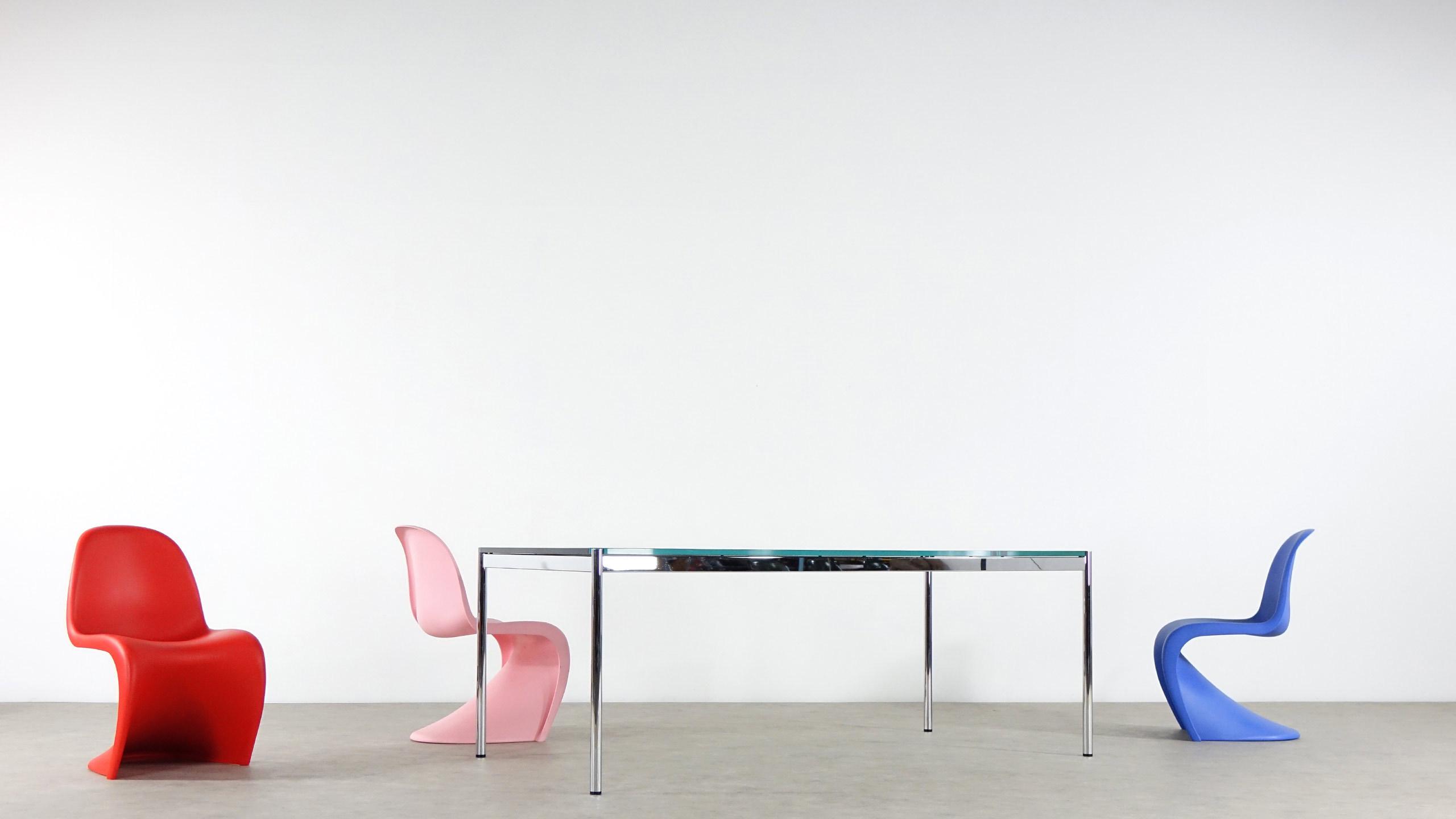usm haller desk schreibtisch glas besprechungstisch. Black Bedroom Furniture Sets. Home Design Ideas